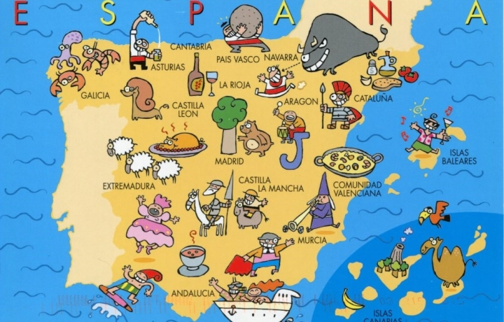 Influx of tourists to Spain